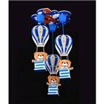 Lustre Pendente Infantil 3 Ursos Boy Azul