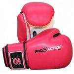 Luva de Boxe e Muay Thai Profissional 12 Oz Rosa Proaction