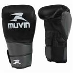 Luva de Boxe Warrior Bx - 14oz - Preto/cinza - Muvin Lvb-100