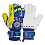 Luva Goleiro Poker Futebol Campo Firmness Pro Silver - Azul e Amarelo - 11