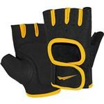 Luvas de Musculação Ahead Sports Amarelo e Preto G