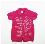 Macacão Bebê Feminino Curto Malha Pink Abelhinha-M