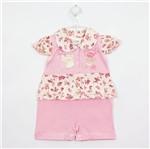 Macacão Bebê Feminino Curto Rosa-P