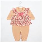 Macacão Bebê Feminino Longo Vestido Floral-G