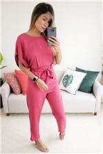 Macacão Colcci Garnett Amarração Ziper - Rosa