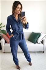 Macacão Colcci Jeans Indigo Comfort - Azul