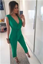 Macacão Colcci Slim Decote - Verde