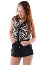 Macacão Curto de Zebra VE0372 - M