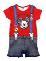 Macacão Disney Infantil para Bebê Menino - Vermelho
