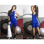 Macacão Feminino Azul Royal Macaquinho Fechado Fitness Academia Crossfit Roupas Femininas