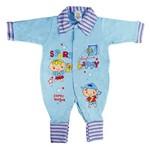 Macacão Longo Menino Azul - Futebol - Bloomy S Baby RN