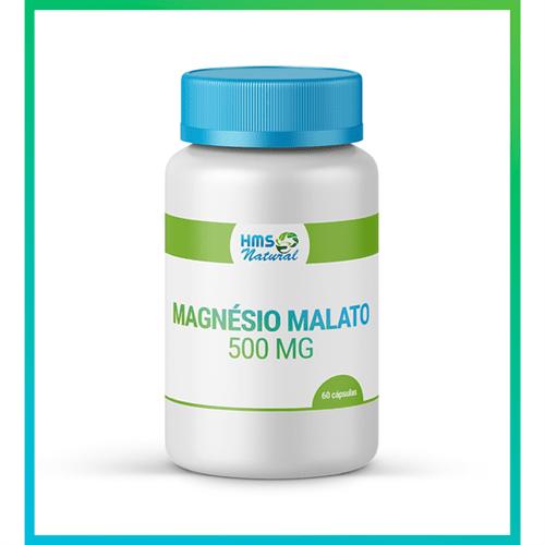 Magnésio Malato 500mg Cápsulas 60cápsulas