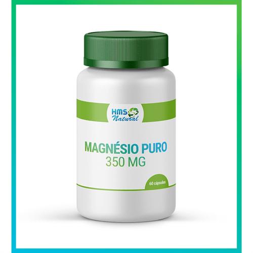 Magnésio Puro 350mg Cápsulas Vegan 60 Doses