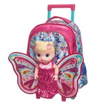 Mala C/carrinho G Baby Alive Butterfly