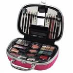 Maleta de Maquiagem Fenzza Rosa com 46 Itens - Hzp723