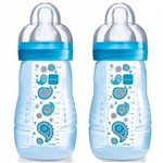 Mamadeiras Dupla Fashion Bottle 270ml Boys - MAM
