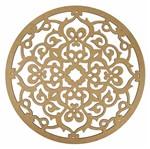 Mandala Arabescos em MDF 13x13cm - Palácio da Arte