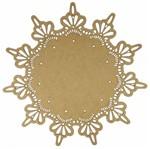 Mandala Delicada em MDF 13x13cm - Palácio da Arte