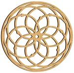 Mandala em MDF 14x14cm MRL-084 Estrela - Palácio da Arte