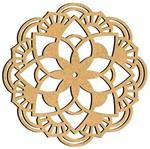 Mandala em MDF 14x14cm MRL-089 Ornamento - Palácio da Arte