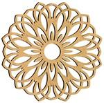 Mandala em MDF 14x14cm MRL-091 Especial - Palácio da Arte