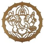 Mandala em MDF 13x13cm Elefante Indiano - Palácio da Arte