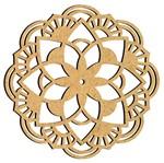 Mandala em MDF 9,5x9,5cm MRL-094 Franja - Palácio da Arte