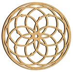 Mandala em MDF 9,5x9,5cm MRL-095 Simétrica - Palácio da Arte