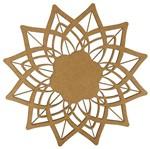 Mandala Flor de Lótus em MDF 25x25cm - Palácio da Arte