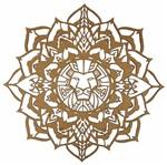Mandala Lotus Africana em MDF 35x35cm - Palácio da Arte