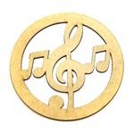 Mandala Musical em MDF 20x20cm - Palácio da Arte