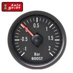 Manômetro Pressão de Turbo 2 Kg Black Series