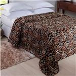 Manta Animal Leopardo 180x220cm Hv/pr/bg - Jolitex