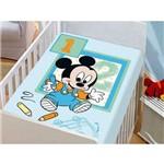 Manta Cobertor para Berço Bebê Mickey Baby Azul Jolitex