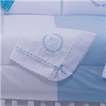 Manta de Bebê Realeza Azul 100% Algodão