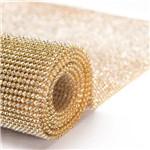 Manta de Strass Crystal Ouro