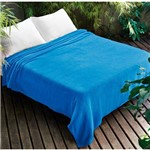 Manta Dyuri Lisa 180x220cm Azul Celeste- Jolitex