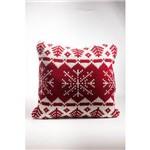 Manta para Sofá Decoração Natal 55cm Vermelho