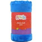 Manta Soft Lisa Rolinho - Azul Escuro