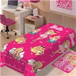 Manta Solteiro Soft Barbie Fashion