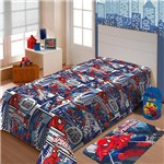 Manta Spider Man Soft Jolitex 1,50 X 2,20m SOLTEIRO - ESTAMPADO