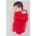 Manta Tricot Tricô 100% Algodão Vermelha Forro de Malha Maternidade Mami
