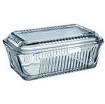 Manteigueira de Vidro Frigo 10 Cm Incolor