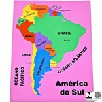 Mapa da América do Sul Colorido Educativo 71 Carlu