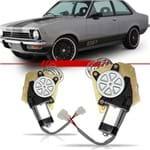 Máquina de Vidro Elétrico Dianteira Chevette 1974 a 1982 Sem Quebra Vento 2 Portas com Motor Fixação Lado Esquerdo Motorista
