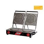 Máquina de Waffle Profissional Dupla Redonda 19cm 3600w