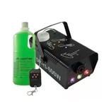 Máquina Fumaça 600w Iluminação Rgb Controle Sem Fio com Leds Festa Balada Dj Festa com Liquido Fluido