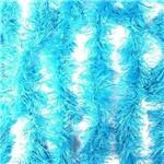 Marabu Sintético com Fios Metalizados Azul Claro