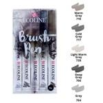 Marcador Artistico Ecoline Brush Pen Tons de Cinza
