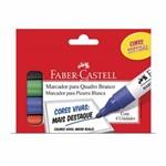 Marcador Quadro Branco - 4 Cores Faber Castell